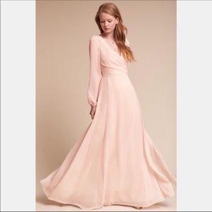 BHLDN Watters & Watters Blush Pink Nova Gown Size8